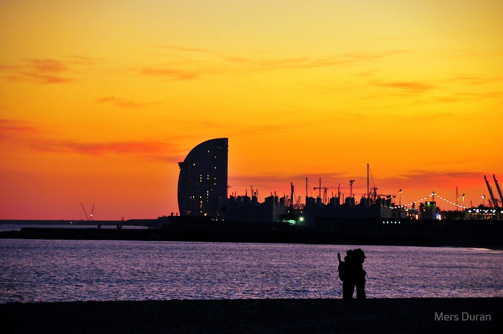 Warm Sunset Embrace by Merce Duran Queral