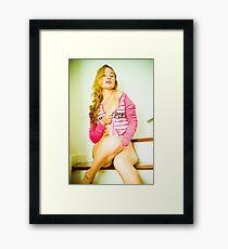 Tina-Pink-3 Framed Print