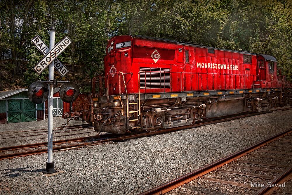 Train - Diesel - Morristown Erie  by Michael Savad