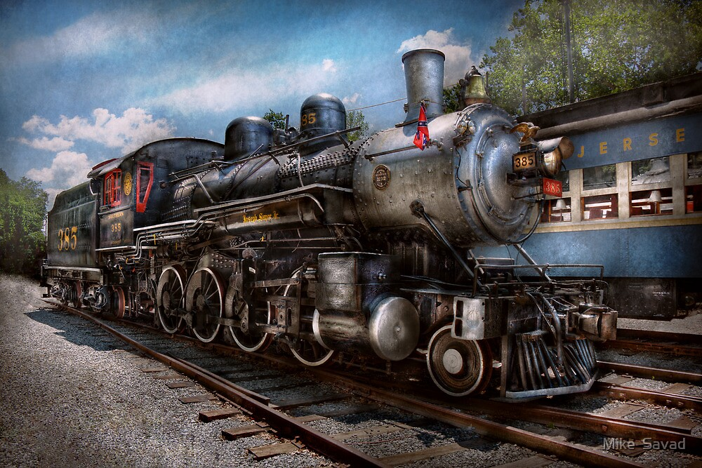 Train - Steam - 385 Fully restored  by Michael Savad