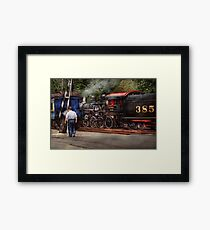Train - Steam - The conductors job  Framed Print