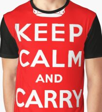 KEEP CALM AND CARRY ON (BLACK) Graphic T-Shirt