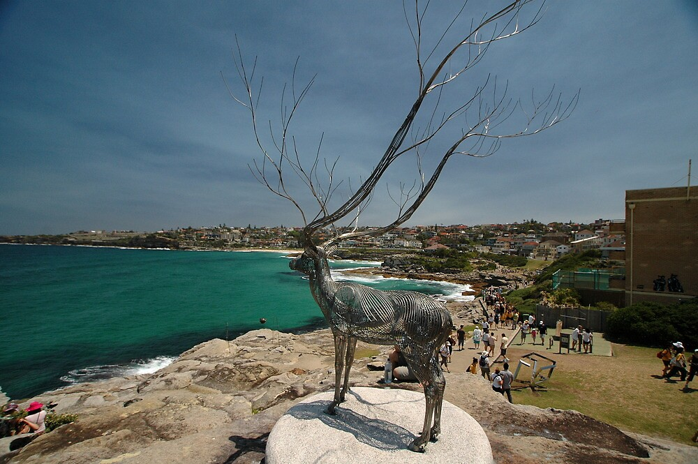 Wire Elk @ Sculptures By The Sea 2011 by muz2142