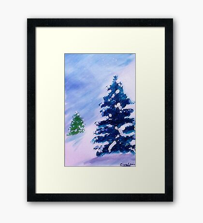 Merry Christmas!  Watercolor Framed Print