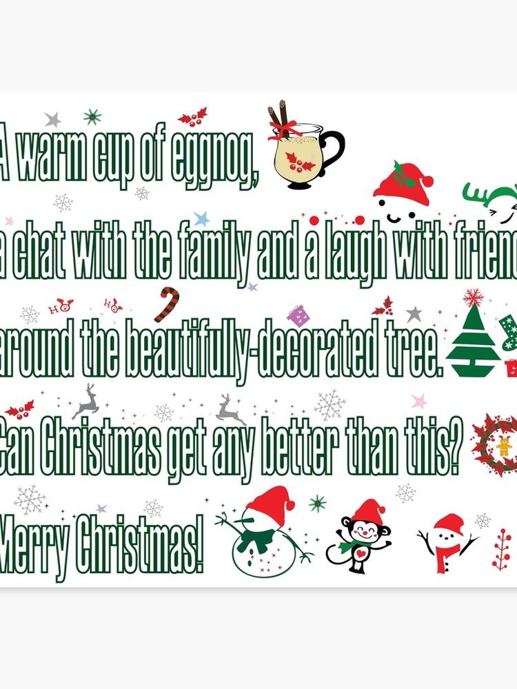 Christmas Sayings.Christmas Sayings Canvas Print