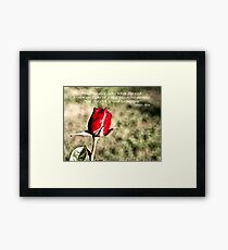 ... and the day came Framed Print
