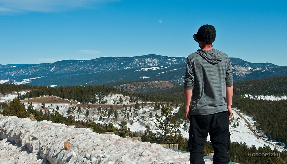 At the Top of a Pass in New Mexico by Roschetzky