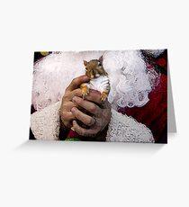 Santa's Hands Greeting Card