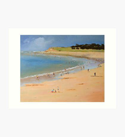 Torquay Front Beach Art Print