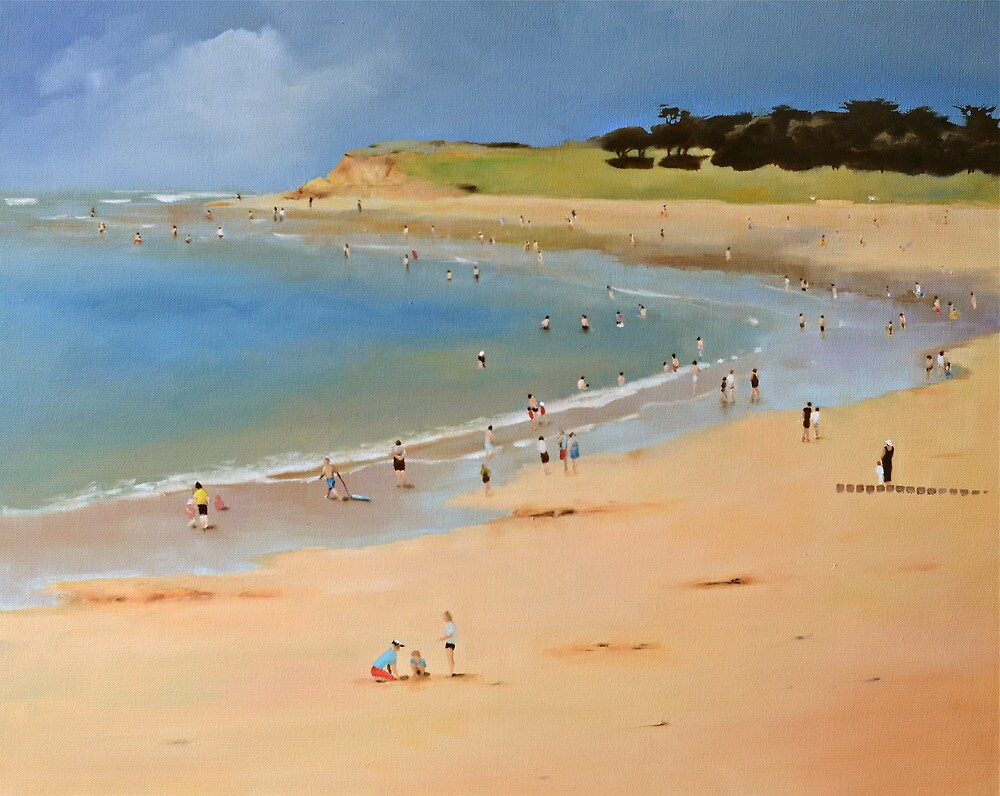 Torquay Front Beach by Mick Kupresanin