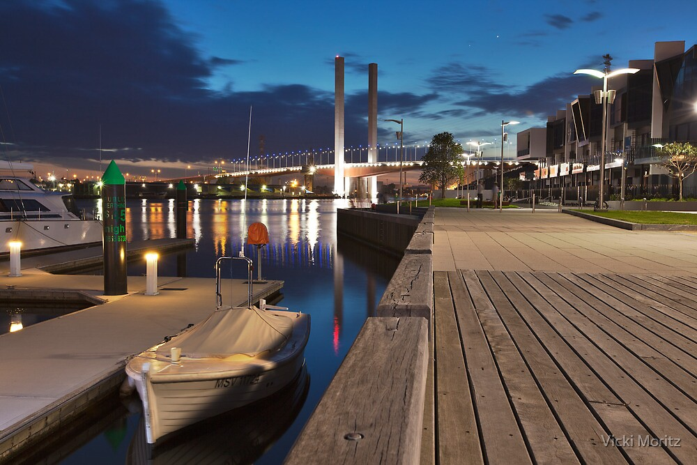 Docklands, Waterfront City by Night by Vicki Moritz
