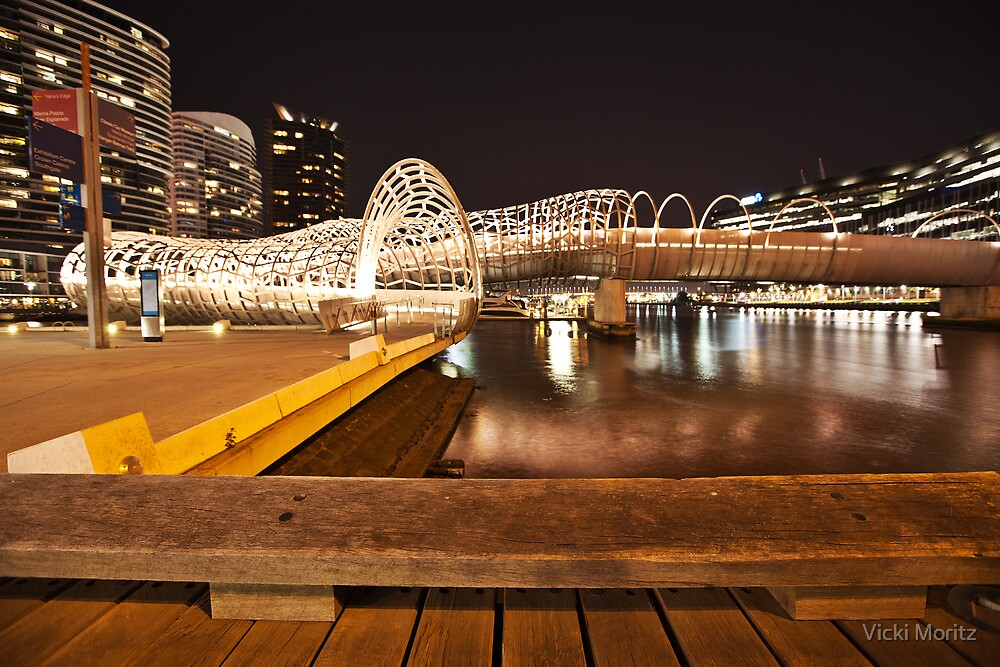Docklands, Webb bridge by Vicki Moritz