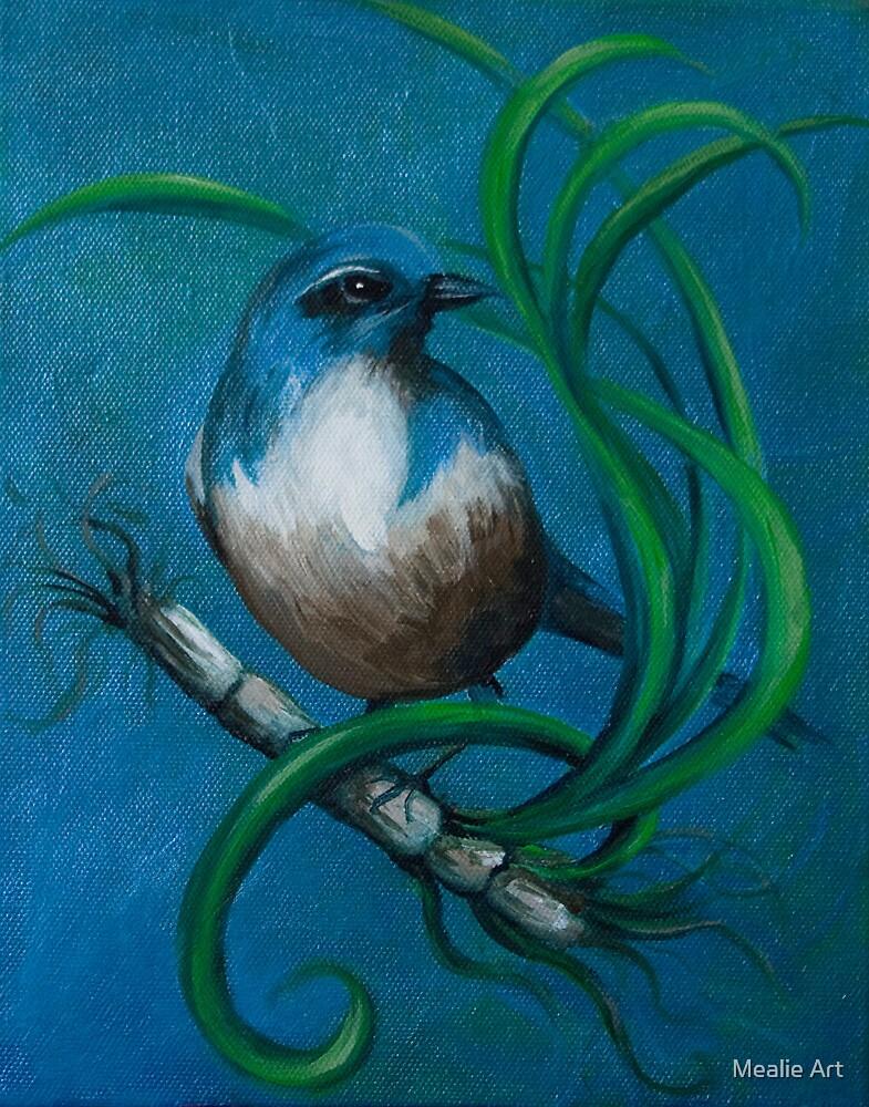 Blue wren by Mealie Art