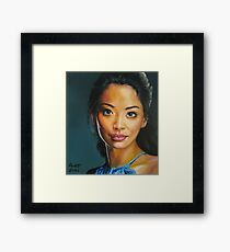 portrait piece - asian beauty Stephanie Jacobsen Framed Print