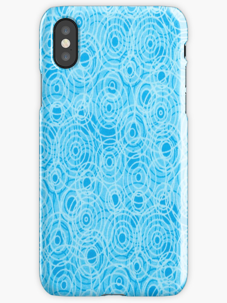 Turquoise Circles iPhone Case by purplesensation