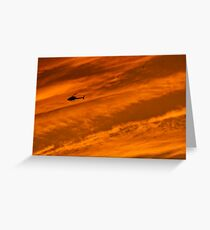 Helicopter Greeting Card