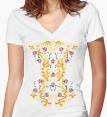 Picnic Corset Women's Fitted V-Neck T-Shirt