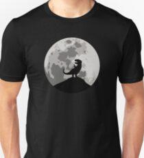 Dinosaurier-Mond-Schattenbild - T-Rex Unisex T-Shirt