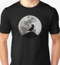 Dinosaur Moon Silhouette - T-Rex T-Shirt