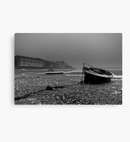 Boats In The Mist Canvas Print