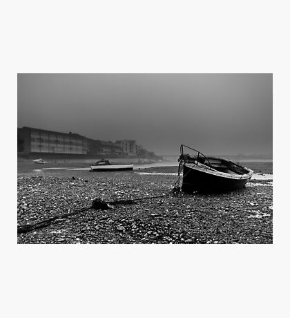 Boats In The Mist Photographic Print