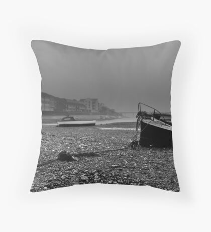 Boats In The Mist Throw Pillow