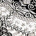 ATC Snowflake doodle by KalonaCreations