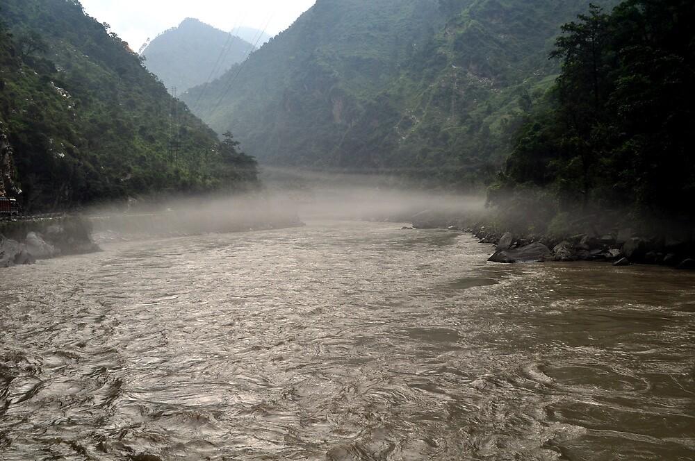 Misty river by forkartik