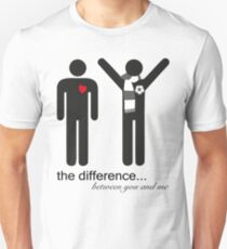 the difference Unisex T-Shirt