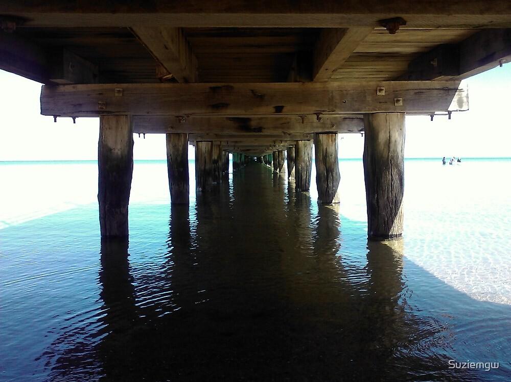 Under Frankston Pier at high noon by Suziemgw