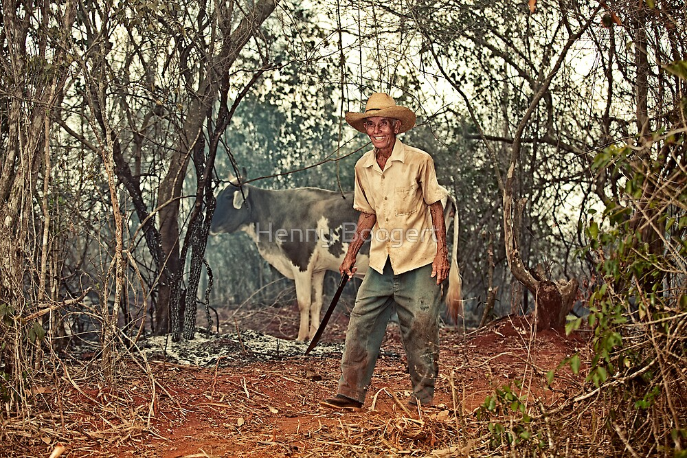 Farmer from Alacranes, Cuba by Henny Boogert