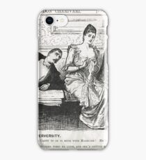 Reverse Psychology Punch Cartoon 1888 iPhone Case/Skin