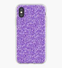 Purple Glitter iPhone Case