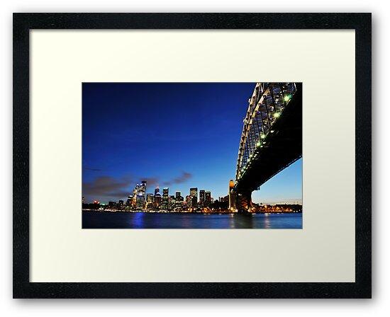 Harbour Bridge Vs The City  by Peter Billiau