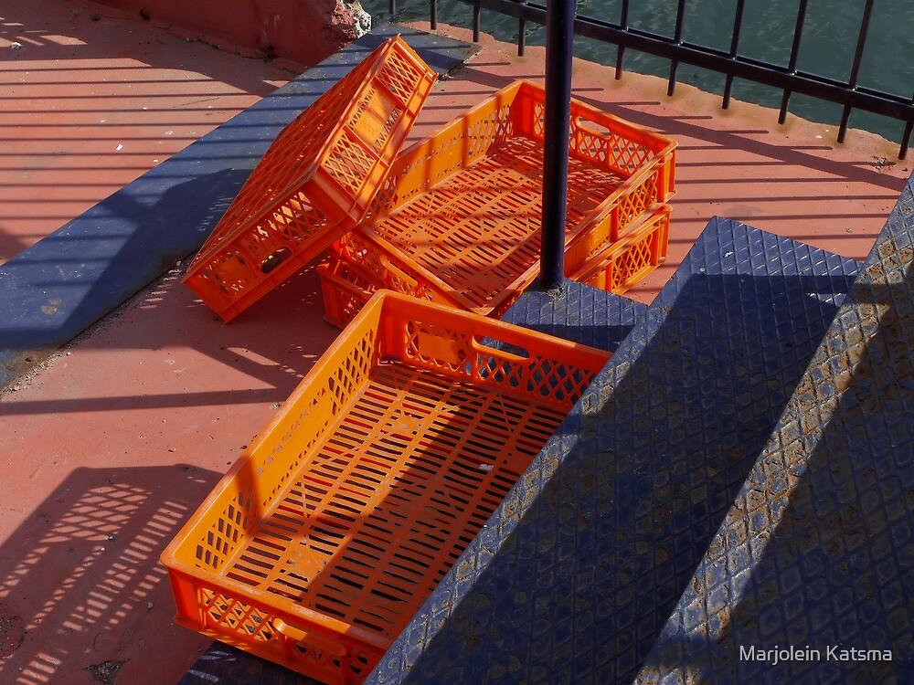Crates at the Sütlüce ferry dock by Marjolein Katsma