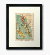 Vintage Map of Baja California (1899) Framed Print