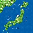 Cartoon Mpa of Japan by Anastasiia Kucherenko