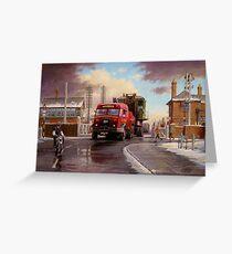Wynn's Foden Drawbar Tractor. Greeting Card