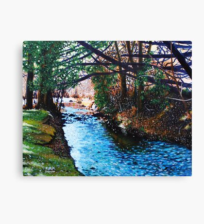 'The Slow Pull of an Easy River' Canvas Print