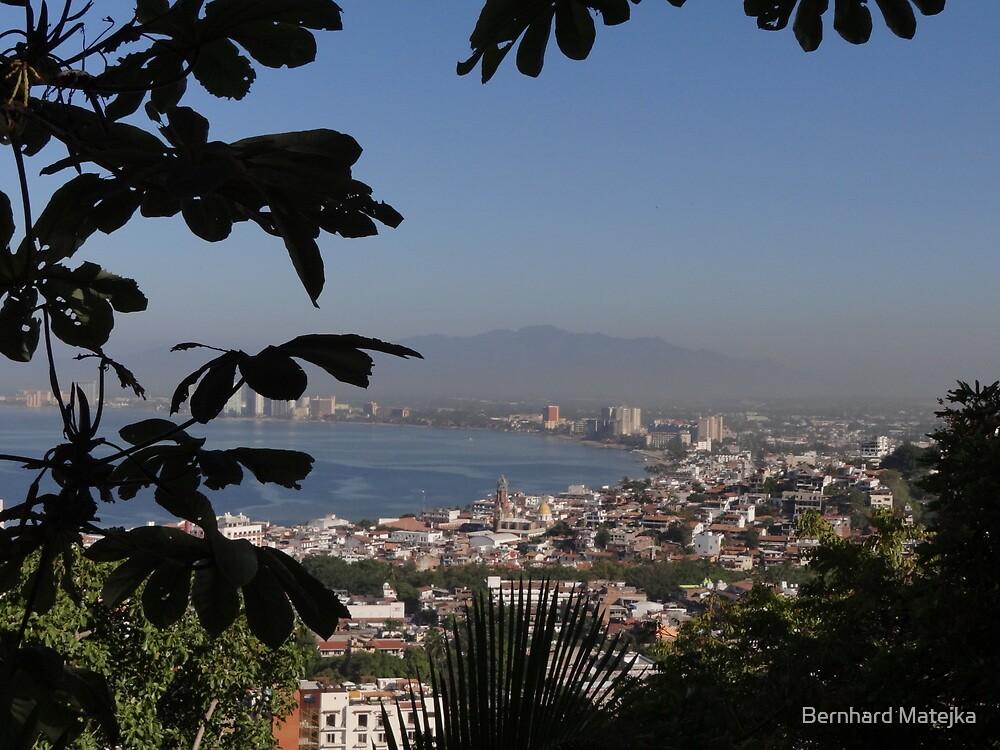 Bay Of Banderas With The Center Of Puerto Vallarta - Bahia De Banderas Con El Centro De Puerto Vallarta by Bernhard Matejka