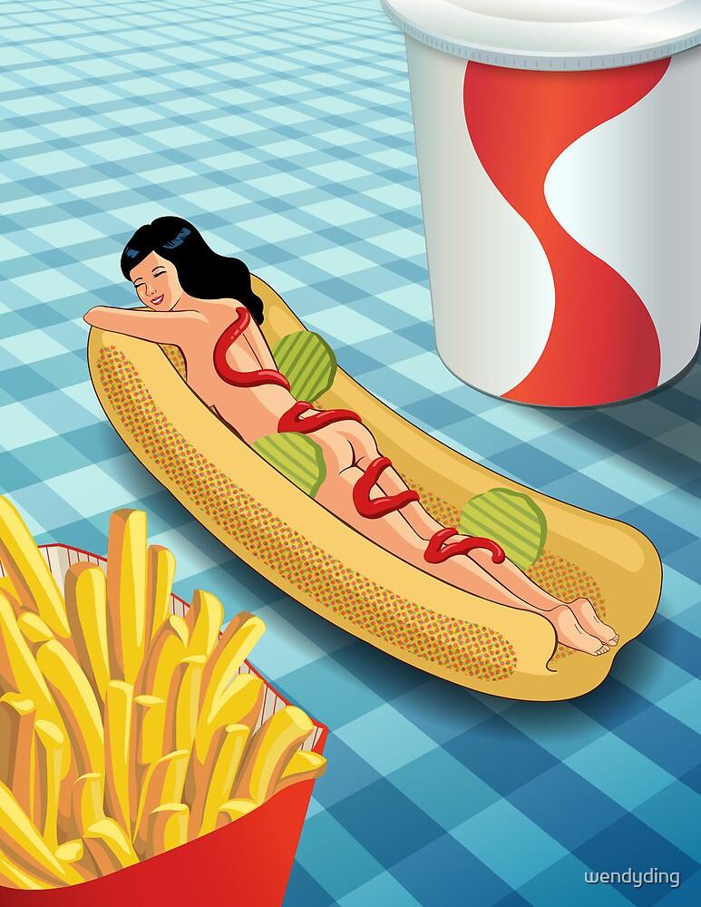Hot Dog Girl by wendyding