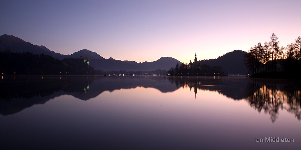 Dawn breaks over Lake Bled by Ian Middleton