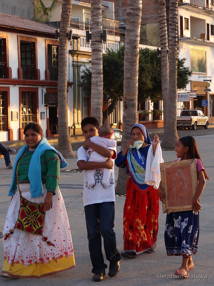 Huichol At The Malecon - Huichol En El Malecon by Bernhard Matejka