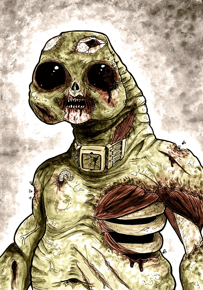 Zombie Slitheen Colour by drwhofreak