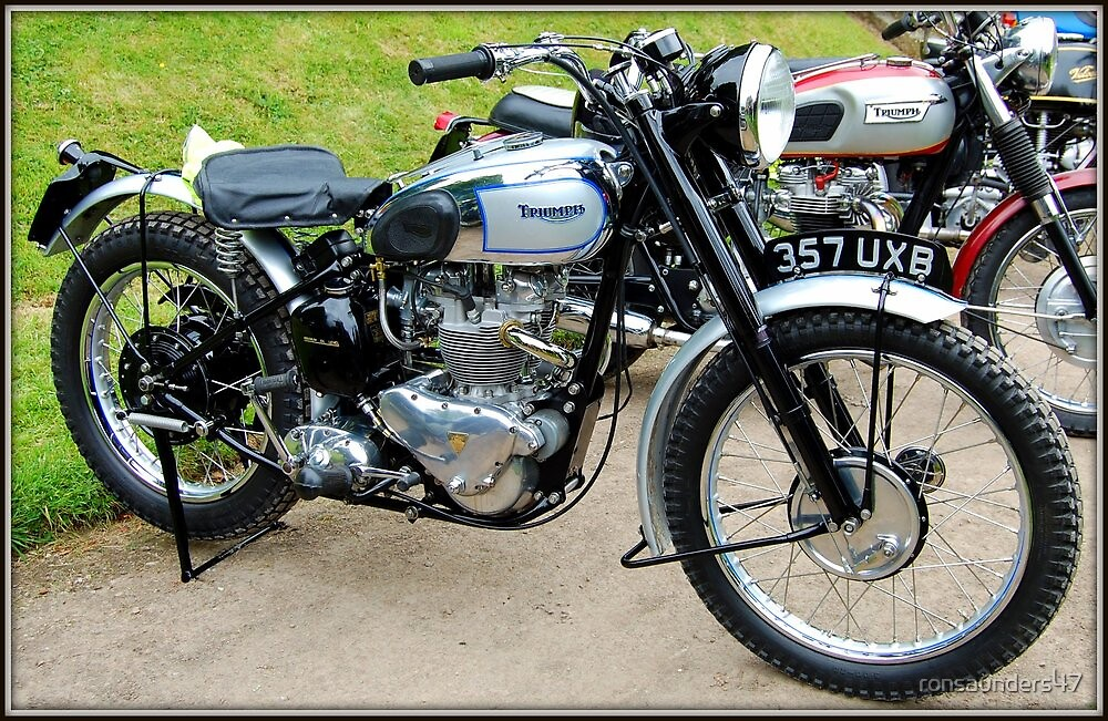 TRIUMPH TROPHY TR5. REAR IN HUB SUSPENSION. 500 CC TWIN CYLINDER. by ronsaunders47