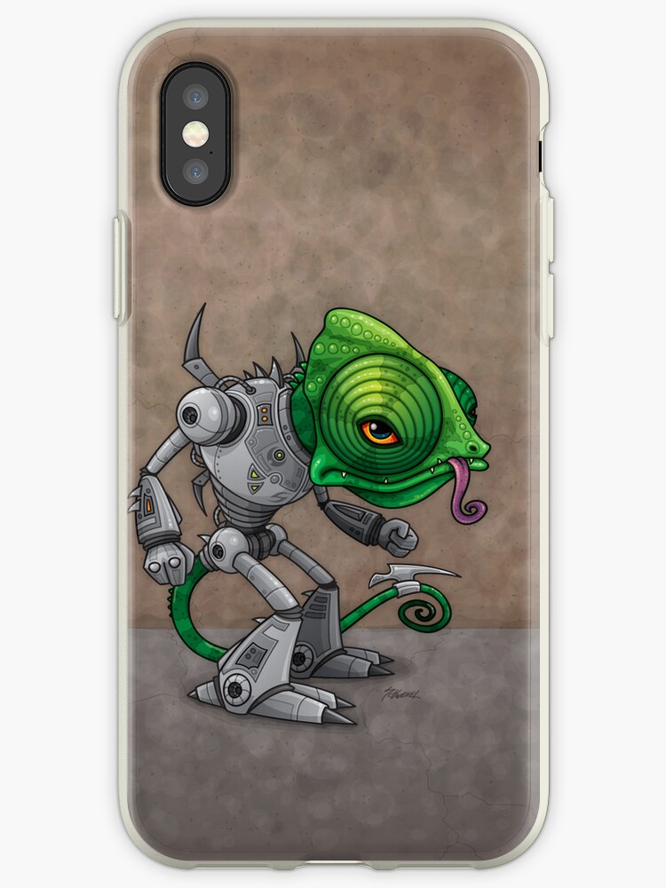 Chameleozoid iPhone Case by fizzgig