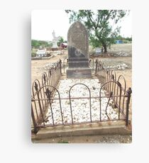 grave Charters Towers Pioneer Cemetery Canvas Print
