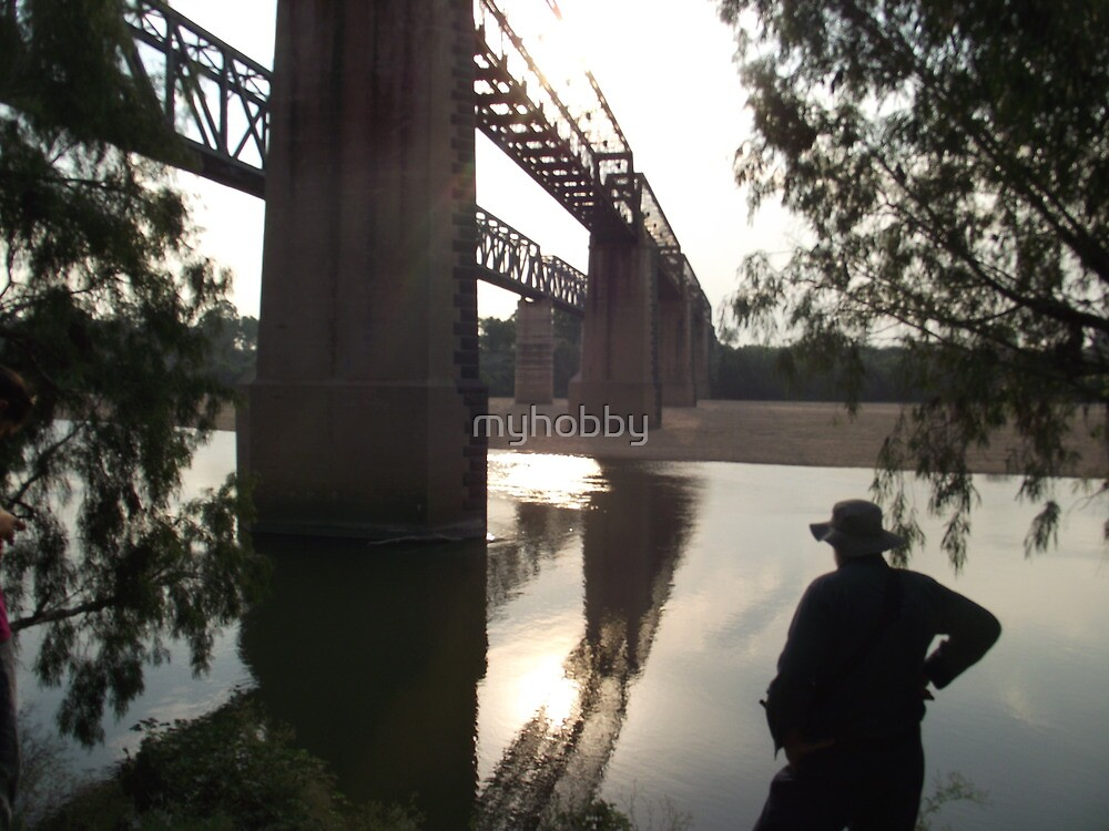 Burdekin River Railway Bridge (Old and New) Charters Towers, Queensland, Australia by myhobby