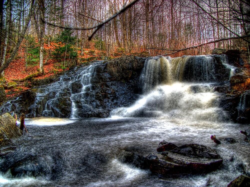 Waterfall - Skowhegan, Maine by Eric Chadwick Jr.