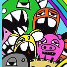 Monster Rainbow Graffiti iPhone Case by edzemo